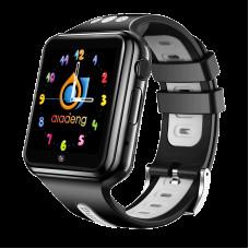 Детские смарт-часы W5 4G, водонепроницаемые черно-серые