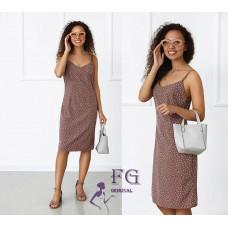 Платье сарафан летнее в горошек Agata софт капучино, голубой, черный, фисташковый, лиловый42-44, 46-48