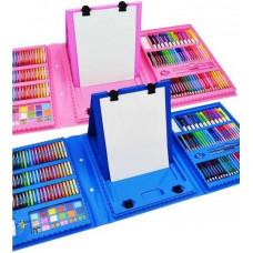 Детский набор для рисования Just Art на 208 предметов с мольбертом в чемоданчике художественный для творчества