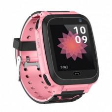 Детские часы Smart Watch F3 (GPS + родительский контроль)  розовые