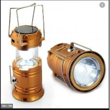 Аккумуляторная Лампа,  фонарь для кемпинга с солнечной батареей SL-5800 золотистый