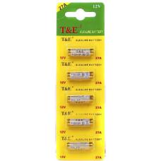 Батарейка T&E A27 алкалиновая 12в 27а