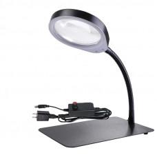 Настольная лампа с лупой8X 48 светодиодных лампочек