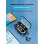 Беспроводные наушники T19 Flash Light HD Call LED цифровой дисплей