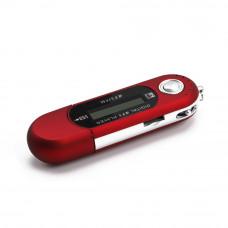 Спортивный MP3-плеер, мини-USB-флэш 4 ГБ красный