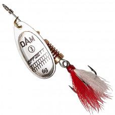 Блесна DAM Effzett Standard Dressed Spinner с бородкой 4 г Silver