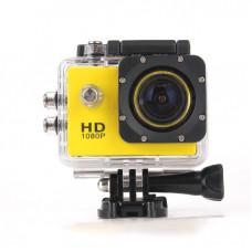 Экшн камера  желтая Камера Водонепроницаемый Бокс 30м